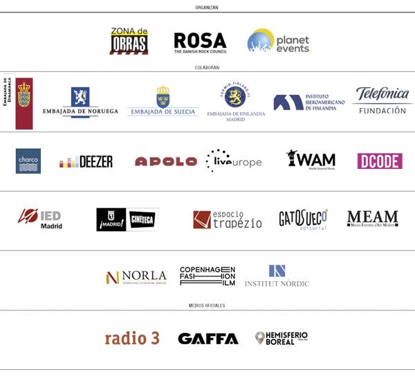 Días Nórdicos 2015 Madrid y Barcelona: logos patrocinadores, colaboradores y medios