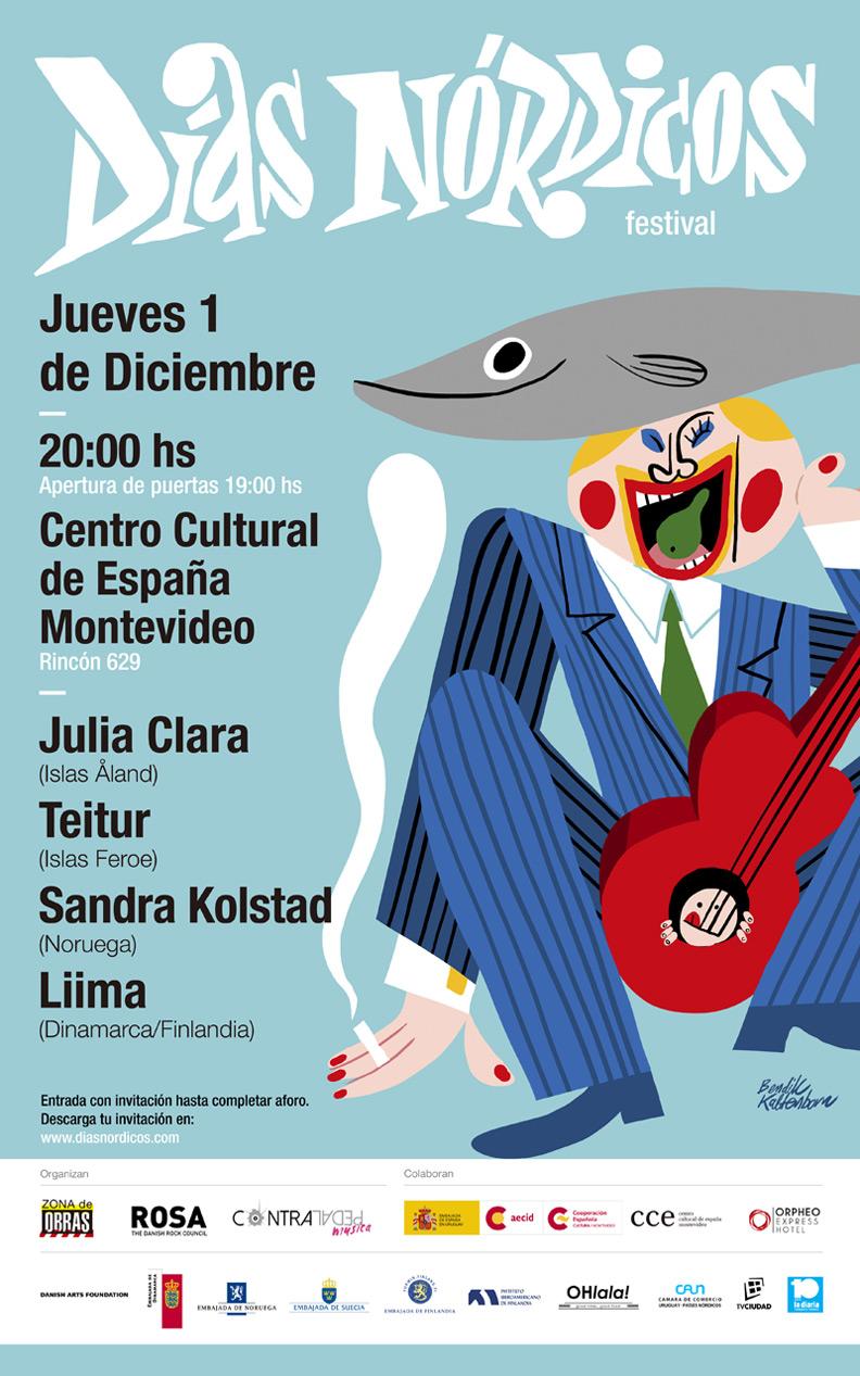 Cartel Días Nórdicos Uruguay 2016