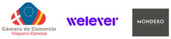 Logos Cámara Hispano Danesa, Welever y MONDEKO